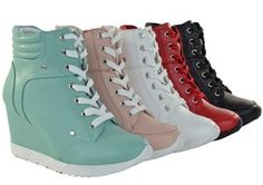 Newest Korean Fashion Wedge Sneaker With High 3 Inch Hidden Wedge.