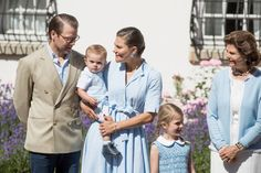 Prince Daniel of Sweden Crown Princess Victoria of Sweden with Prince Oscar of Sweden and Princess Estelle of Sweden and Queen Silvia of Sweden are...