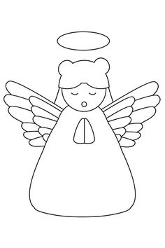 girl angel christmas praying coloring pages for kids printable christmas angels coloring pages for kids - Coloring Pages Beautiful Angels