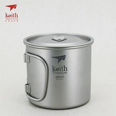 Keith Titanium SingleWall Mug with Folding Handle and Lid  118 fl oz ** Want additional info? Click on the image.