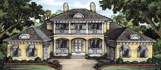 Elevation of Florida   House Plan 58960