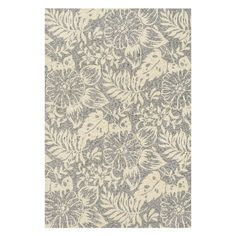 Elegantly anchor your parlor or dining room decor with this artfully hand-hooked rug, showcasing a lovely floral motif in gray and ivory.