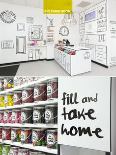 interesting way to draw attention to 2D displays on walls