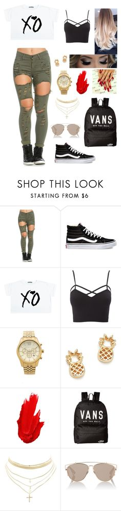 """""""Untitled #299"""" by brie-karitsa-luciano on Polyvore featuring Vans, Charlotte Russe, Michael Kors, Bing Bang, Maybelline, Christian Dior and plus size clothing"""