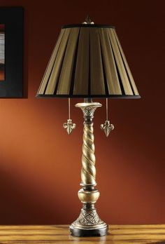 Crestview CVATP668 Twisted Column in Pewter Bronze Finish Table Lamp - Set of 2 only $229 #twistedColumnLamps #bronzeLamps