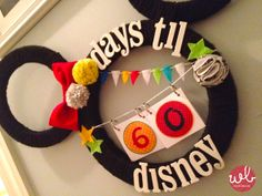 Disney Countdown Wreath