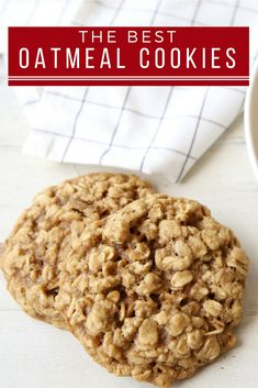 These Best Oatmeal Cookies are soft and chewy and completely irresistible. Soft Oatmeal Cookies, Oatmeal Cookie Recipes, Cookies Soft, Old Fashioned Oatmeal Cookies, Quick Oat Cookies, Cake Cookies, Instant Oatmeal Cookies, Homemade Oatmeal Cookies, Yummy Cookies