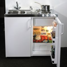 The popular John Strand Mini Kitchen has been sold throughout the UK for over 30 years used in a wide variety of residential and commercial situations. Micro Kitchen, Compact Kitchen, Casa Hipster, Very Small Kitchen Design, Ikea Duktig, Cocina Office, Tiny Studio, Kitchen Units, Kitchen Ideas