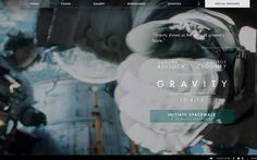 Awesome one page site for the new movie, #Gravity