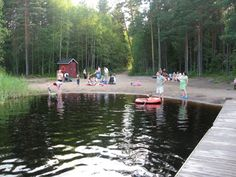 The beach of Odilampi (Espoo, Finland).