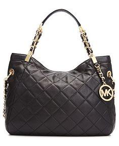 MICHAEL Michael Kors Handbag, Susannah Medium Quilted Shoulder Tote I LOVE THIS like it newest.