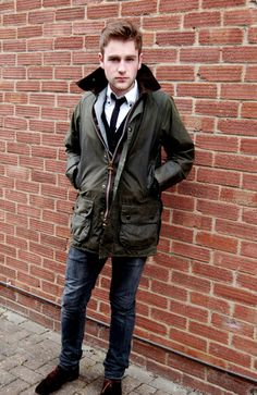 Barbour wax coat with a touch of metropolitan
