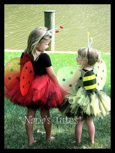 Lady Bug or Bumble Bee, Tutu Set,Costume,Halloween,Theme Party in Sizes 2yrs thru 6yrs. $38,00, via Etsy.
