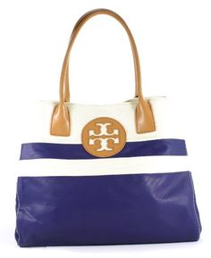 Tory Burch Dipped Beach Tote Pirate Blue Multi Handbag Tory Burch... This will be mine by next summer.