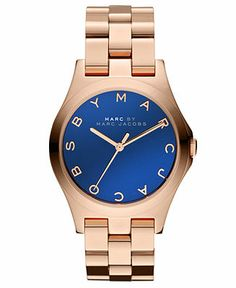 Marc by Marc Jacobs Watch, Women's Rose Gold Ion-Plated Stainless Steel Bracelet 36mm MBM3213 - Marc by Marc Jacobs - Jewelry & Watches - Macy's