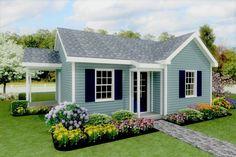 Backyard House, Backyard Cottage, Best House Plans, Small House Plans, Cute Small Houses, Tiny Houses, Dream Houses, Cute Little Houses, Cob Houses