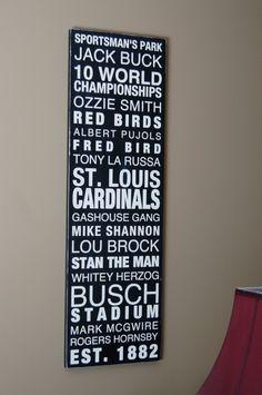 St Louis Cardinal Baseball Wood Wall Art by SweetDesignsBoutique, $65.00 st-louis
