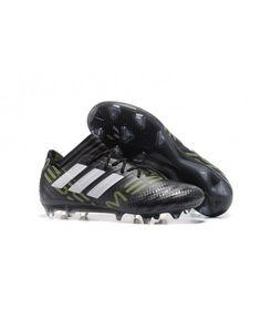 Adidas Nemeziz 17.1 FG FAST UNDERLAG ACC Svart Grön Vit Fotbollsskor 442de18598989