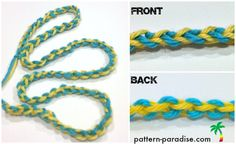 make this cord: choose two colors (or more I guess), holding them together, make a slip knot.Keep both strands taut in your hand, yarn over and chain with the first color, yarn over and chain with the second color. It's as simple as that! Just repeat for as long as you want the chain!