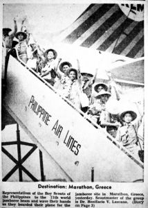 The 11th World Scouts Jamboree was held at Marathon, Greece in August 1963. The Philippine contingent, boy scouts from ages 14 to 19, represented the best of the generation and the idealism of the Philippine youth. On 28 July 1963, the Eqypt Air plane that was carrying the Filipinos crashed on approach to Bombay Airport into the Indian Ocean. Their bodies were never recovered. #kasaysayan