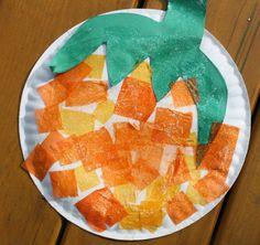Paper Plate Pumpkin.