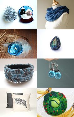 Ice by Csilla on Etsy--Pinned with TreasuryPin.com Hanukkah, Crochet Earrings, Ice, Collections, Etsy, Decor, Decoration, Decorating, Home Decoration