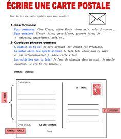 écrire une carte postale