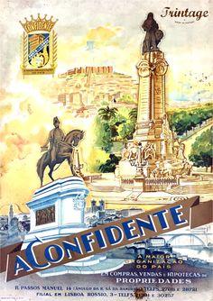 A Confidente, a maior organização do país em propriedades, publicidade antiga.