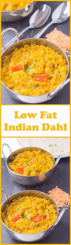 Low fat Indian dahl is one of my favourite curries. Suitable for vegans it's relatively quick and simple to make. When you're in the need of something healthy and filling that's meat free and really tasty, you cant go wrong with this low fat Indian dahl.