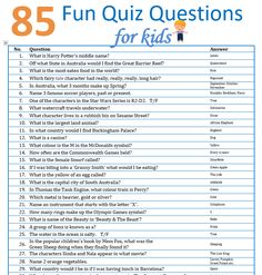 gk questions and answers for kids & gk questions and answers ; gk questions and answers in english ; gk questions and answers in hindi ; gk questions and answers for kids Family Quiz Questions, Trivia Questions For Kids, General Knowledge Quiz Questions, Trivia Questions And Answers, Question And Answer Games, Interesting Quiz Questions, Disney Quiz Questions, Easy Quiz Questions, General Knowledge For Kids