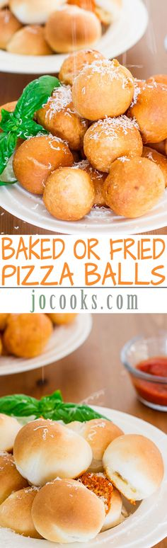 Baked or Fried Pizza Balls