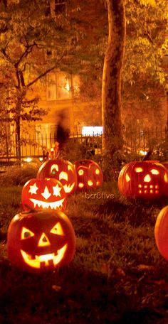 #Halloween Jack-o-Lanterns