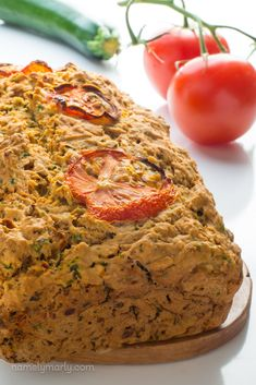 This delicious savory zucchini bread is a nice twist on the classical sweet treat. Serve this bread along side your favorite soup or salad.