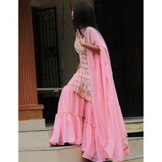Baby pink georgette embroidered work party wear sharara suit Sharara Suit, Churidar Suits, Anarkali Suits, Salwar Kameez, Suit Fabric, Designer Sarees Online, Work Party, Prom Dresses, Formal Dresses
