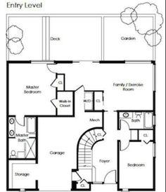 Streamline Moderne Floorplan