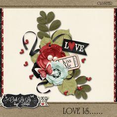 Digital Art :: Element Packs :: Love Is Cluster