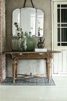 shabby home decor ideas \ shabby home decor _ shabby home decor ideas _ shabby home decor diy _ shabby home decor using plants _ shabby home decor interior design _ shabby home decor inspiration _ shabby home decor decoration _ shabby chic home decor Vintage Mirrors, Vintage Decor, Vintage Vignettes, Country Decor, Farmhouse Decor, Country Entryway, Country Furniture, Garden Furniture, Antique Furniture