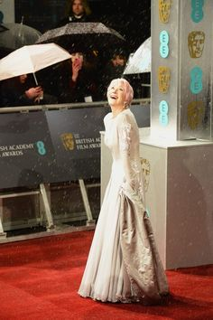 How Celebrities Dealt With The Pouring Rain On The BAFTA Red Carpet - Helen Mirren