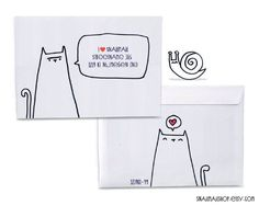 Drawings On Envelopes and Envelopes, Snail Mail And Drawings On