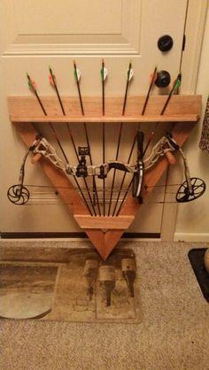 Home made Bow Rack