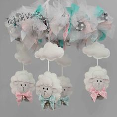 Lamb/Sheep Mobile Welcome to Taylored Whimsy! Where custom, couture baby mobiles are lovingly created for your special little bundle of joy. COLOR