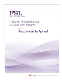 Canadian guide to Reflective Practice for French as a Second Language Teachers (FSL)