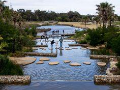 Peters Pond in Farnham Surrey - Utility Collective Park Landscape, Urban Landscape, Landscape Architecture, Landscape Design, Water Playground, Playground Design, Parque Linear, Wetland Park, Urban Park