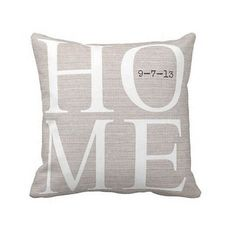 Pillow Cover Housewarming Gift Personalized With Move-In Date on Etsy, $35.00