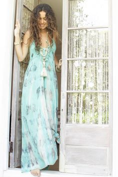 Breeze Maxi Dress in Topaz