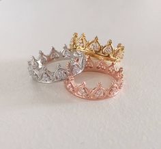 Prinzessin Krone Ring - Tiara Ring - stapelbare Ring - Knöchel Stapel schlank - Rose Gold Ring - Sterling Silber Ring - Valentinstag - 2020 Fashions Woman's and Man's Trends 2020 Jewelry trends Cute Jewelry, Gold Jewelry, Jewelry Rings, Jewelery, Jewelry Accessories, Cheap Jewelry, Pandora Jewelry, Party Accessories, Gold Bracelets