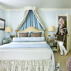 Look at the backboard idea for behind the bed...very clever indeed!Colorful Coastal Bedrooms   Ocean-Inspired Bedroom   SouthernLiving.com