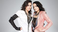 Posing Sharon den Adel and Tarja Turunen What a song!!