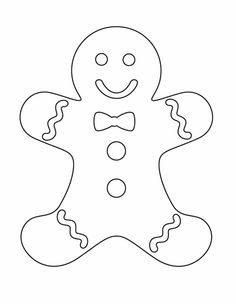 christmas gingerbread man coloring pages | god's