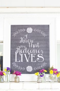 Free printable chalkboard for Easter.